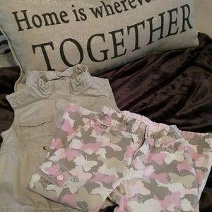 Toddler Old Navy Khaki Vest / Carter's Pants